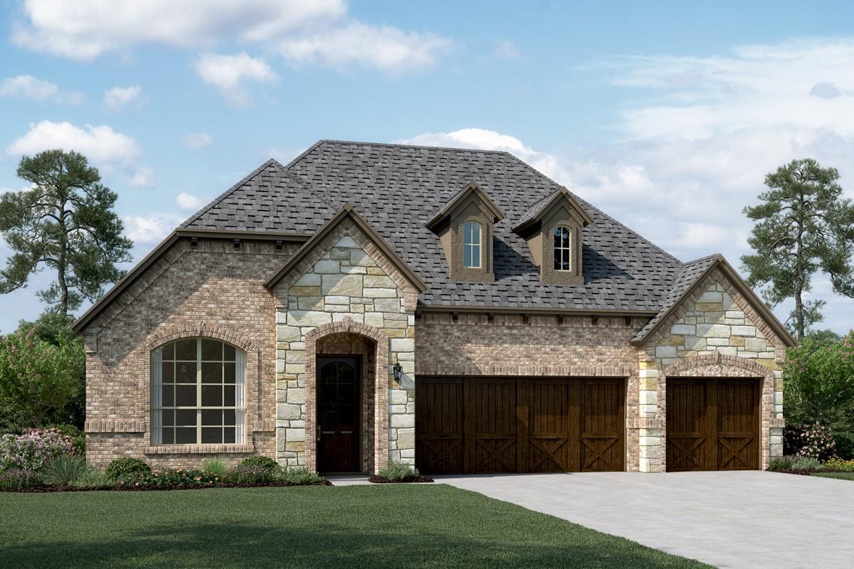 Danbury III E Stone new homes dallas texas