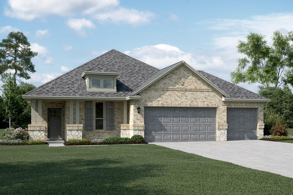 Dover II C Stone 3 Car new homes dallas tx