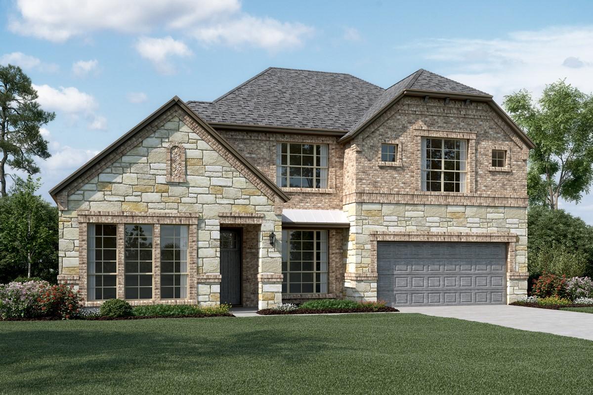 Hillcrest IV C Stone new homes dallas tx