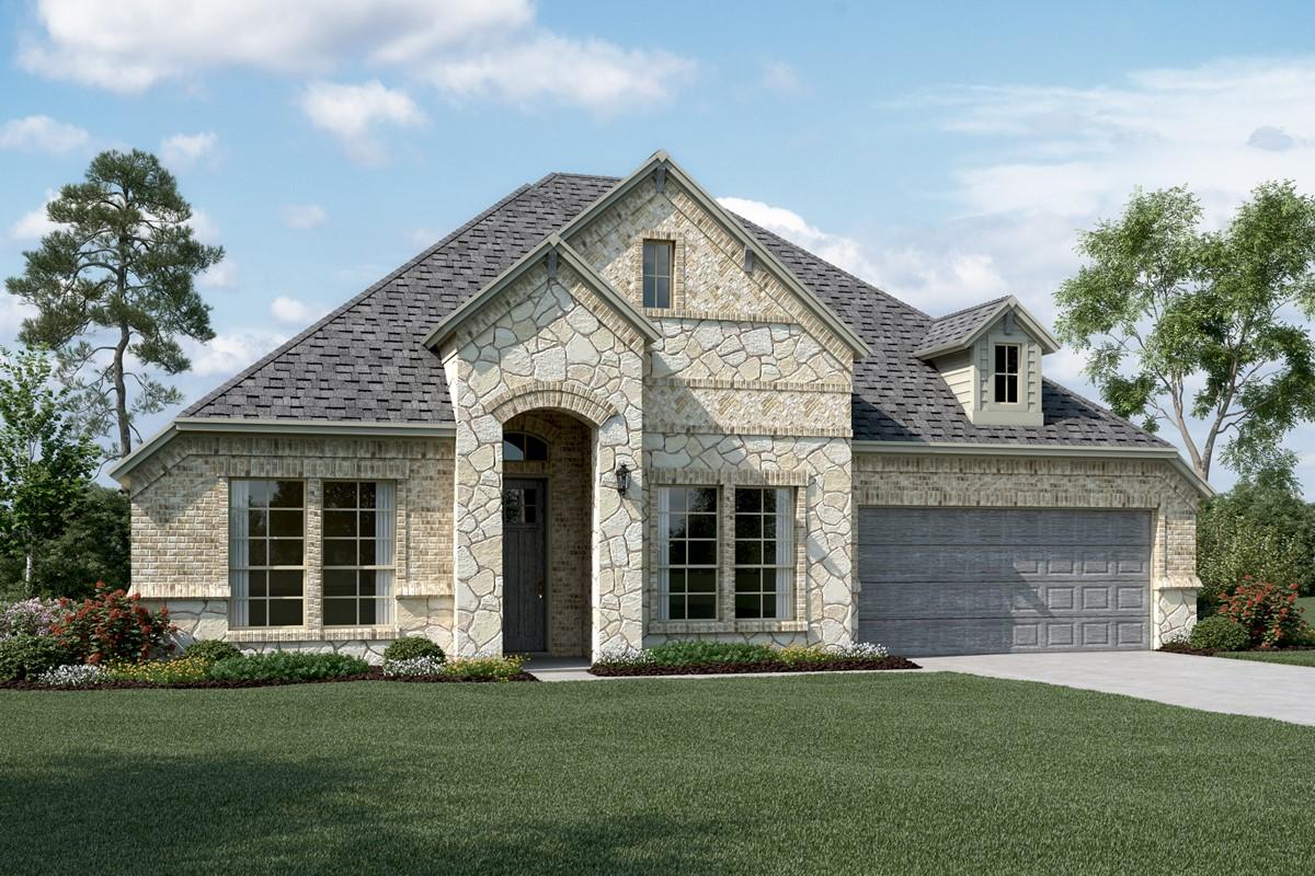 Walden IV C Stone new homes dallas tx