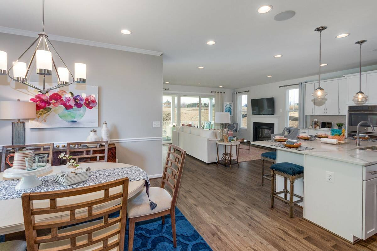 york II dining area new homes at embrey mill